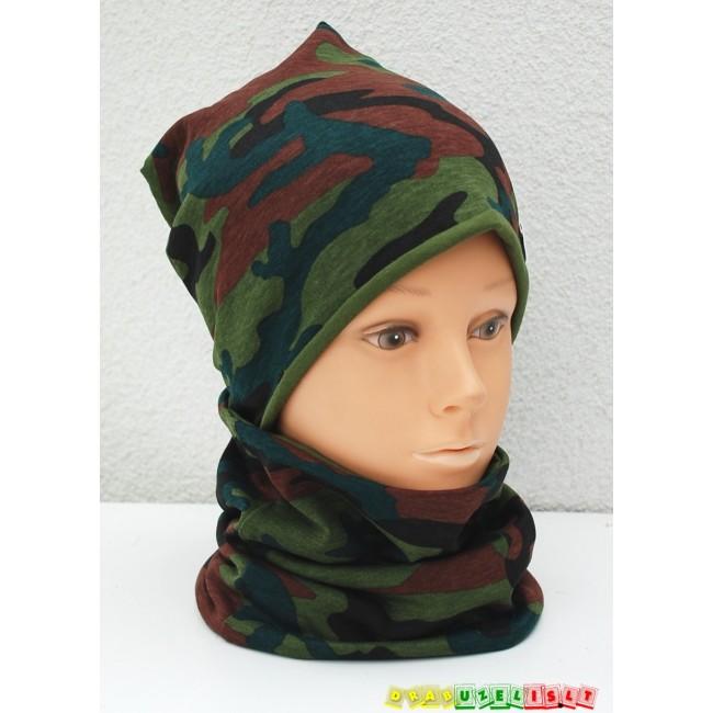 """Kepurė su mova rudeniui """"Kamufliažas"""", 491"""