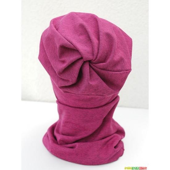 """Kepurė su mova pavasariui """"Rožinė dryžuota"""", 711"""
