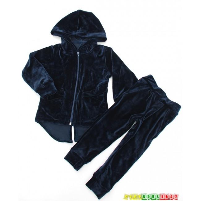 """Laisvalaikio kostiumas vaikui """"Tamsiai mėlynas veliūrinis"""", 400"""