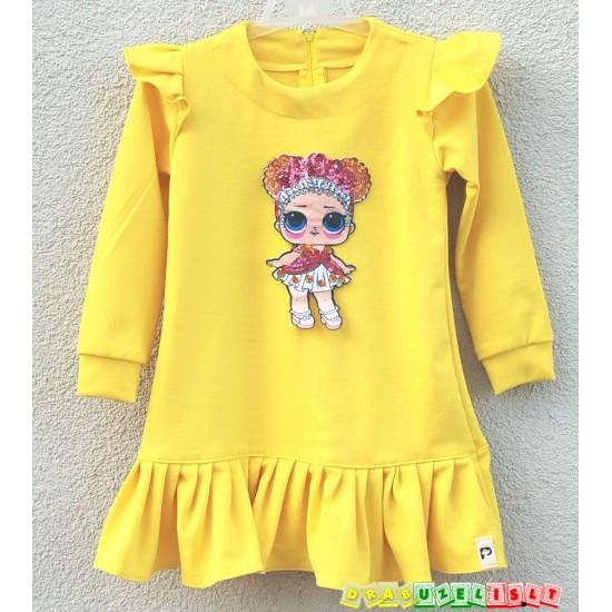 "Suknelė mergaitei  ""LOL geltona"", 952"