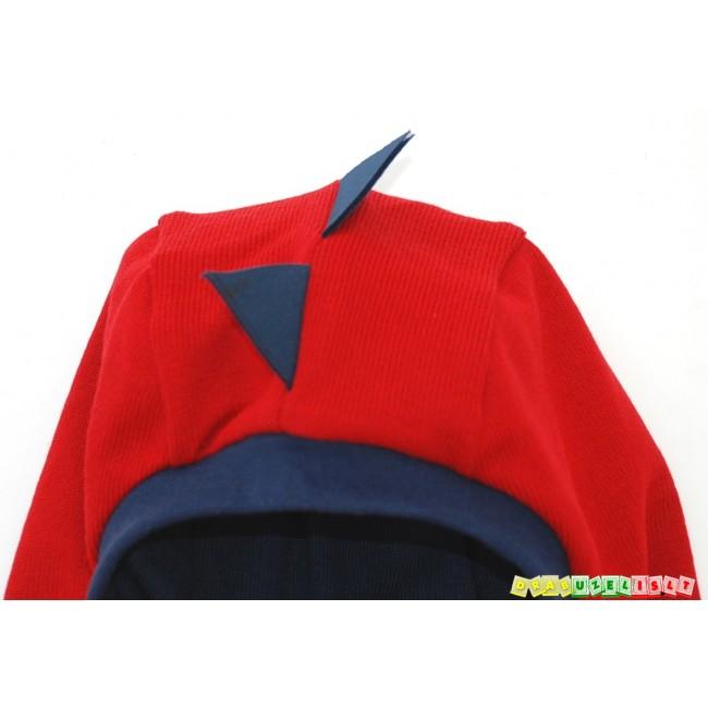 """Kepurė - šalmukas """"Raudonas drakoniukas"""" pavasariui/rudeniui, 982"""