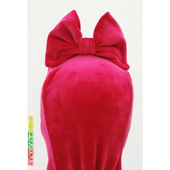 """Kepurė - šalmukas pavasariui/rudeniui """"Veliūrinis rožinis kaspinėlis"""", 981"""