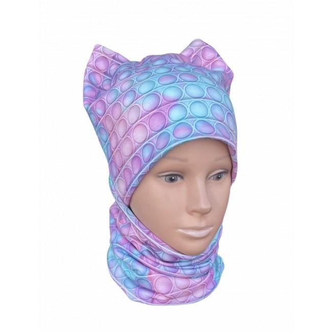 """Kepurė su mova mergaitei pavasariui/rudeniui """"POP IT"""", 564"""