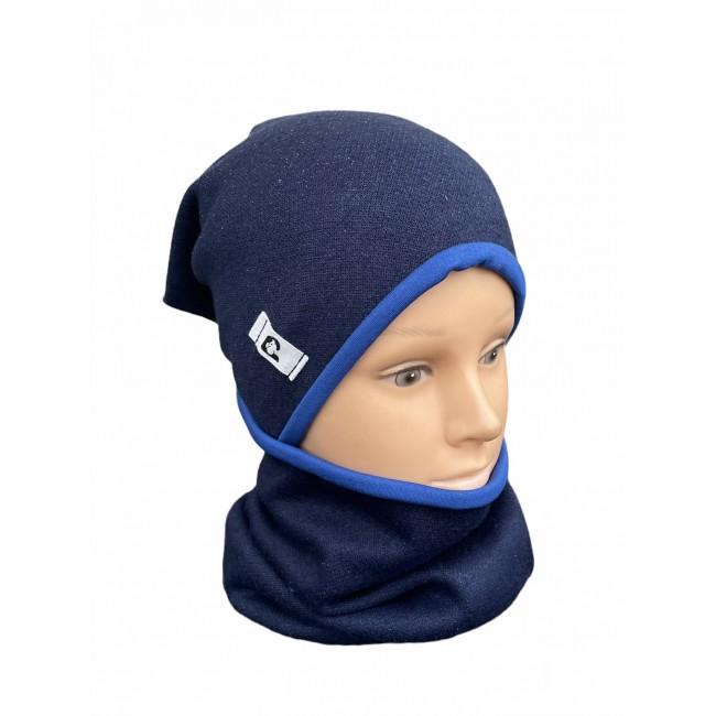 "Kepurė su mova rudeniui ""Tamsiai mėlyna"", 585"