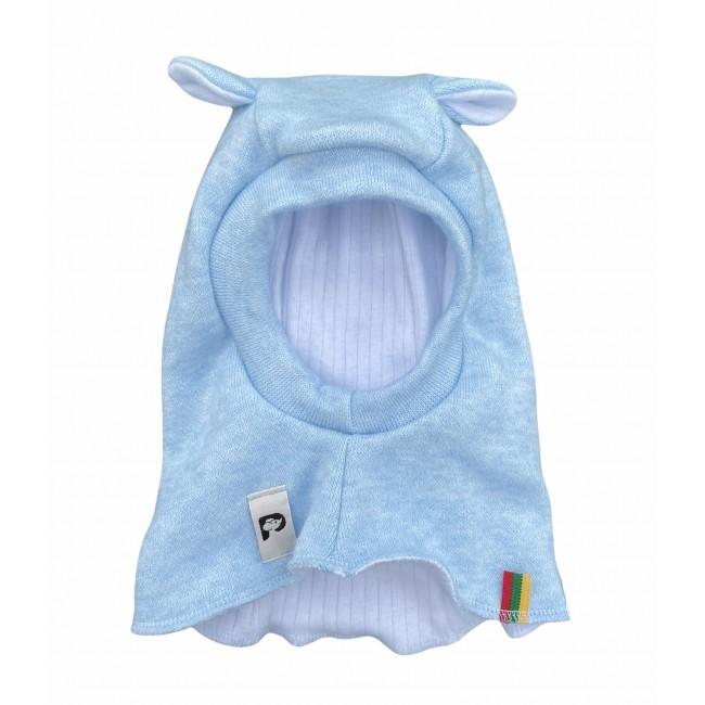 """Šilta Kepurė-šalmukas kūdikiui """"Melsvas"""", 536"""