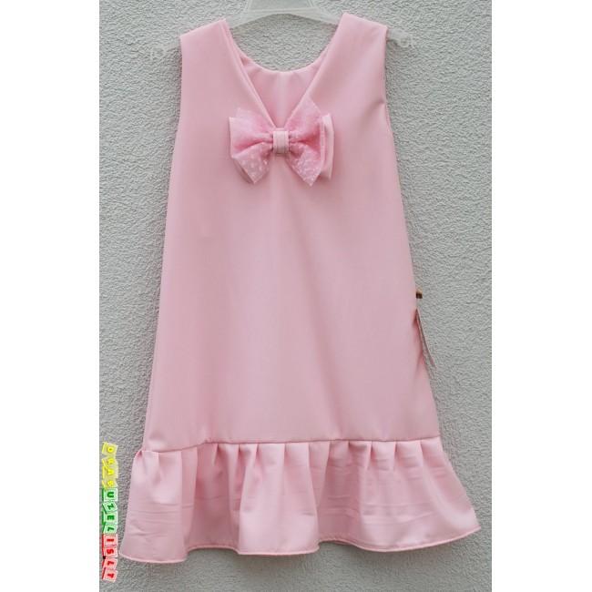 """Puošni Suknelė mergaitei """"Šviesiai rožinė"""", 514"""