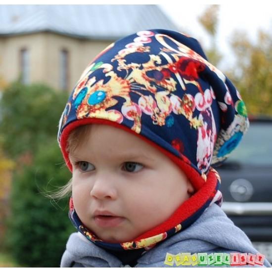 """Šilta kepurė su mova """"Deimantai"""" 683"""