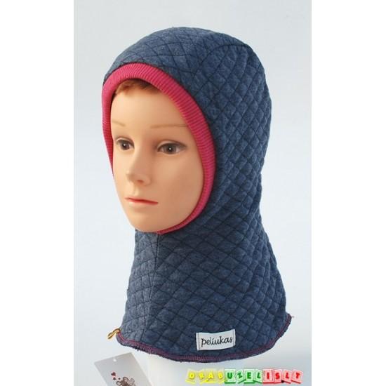 """Šilta Kepurė - šalmukas """"Melsvas su rožiniu"""", 791"""