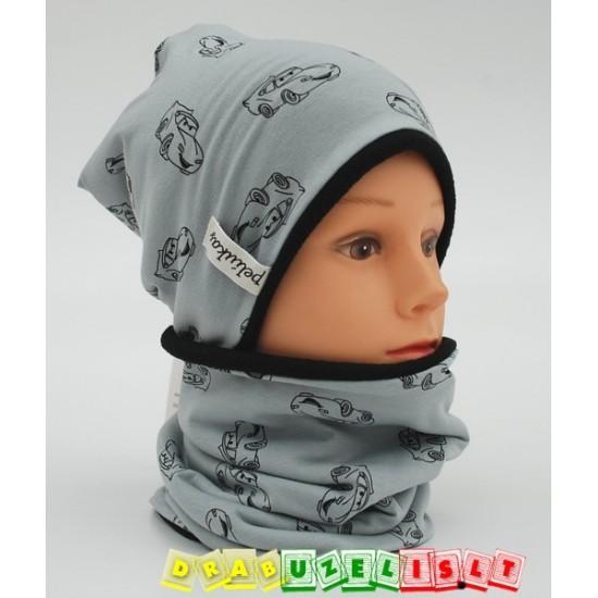 """Šilta Vaikiška kepurė su mova """"Šiltos mašinytės"""", 769"""