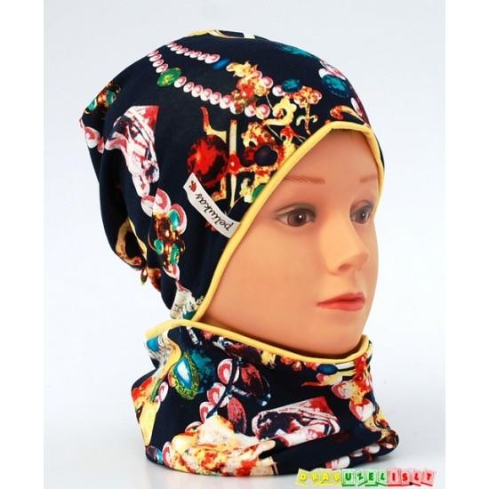 """Kepurės su mova komplektas  """"Deimantai"""", 630"""