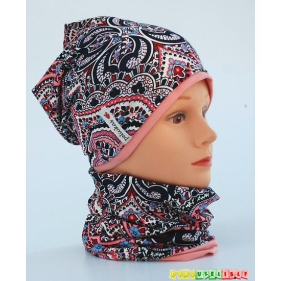 """Pavasarinė kepurė su mova """"Persikutė"""", 257"""