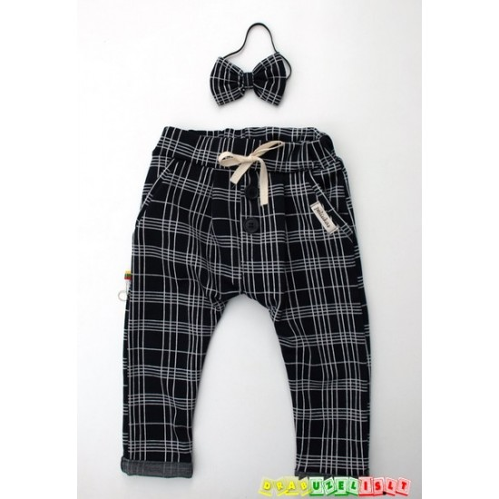 """Vaikiškos harem tipo kelnės """"Languotos"""", 467"""