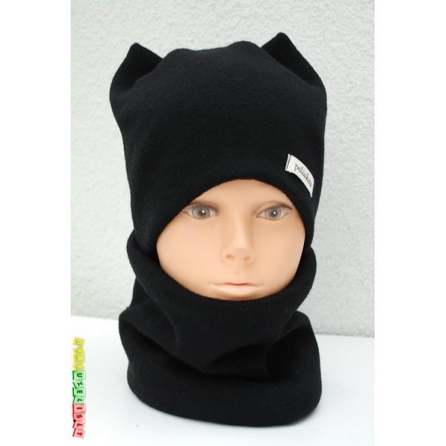 """Šilta kepurė su mova """"Juodos ausytės"""", 889"""