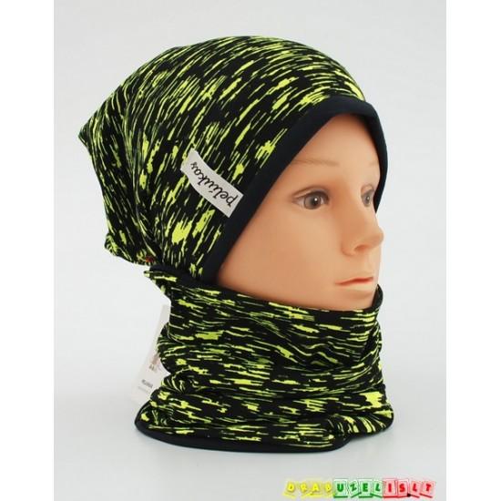 "Kepurė su šalikėliu/mova rudeniui ""Elektrinis"" 355"
