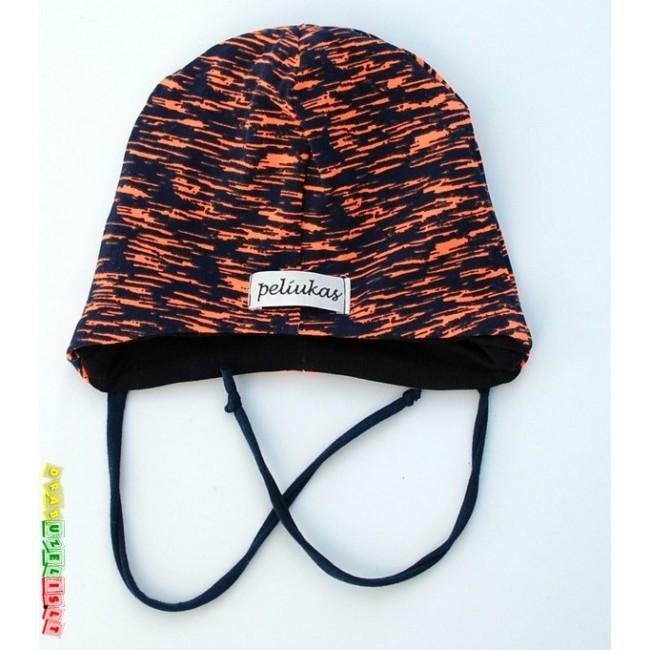 """Kepurė su raišteliais """"Oranžiniai dryžiukai"""", 849"""