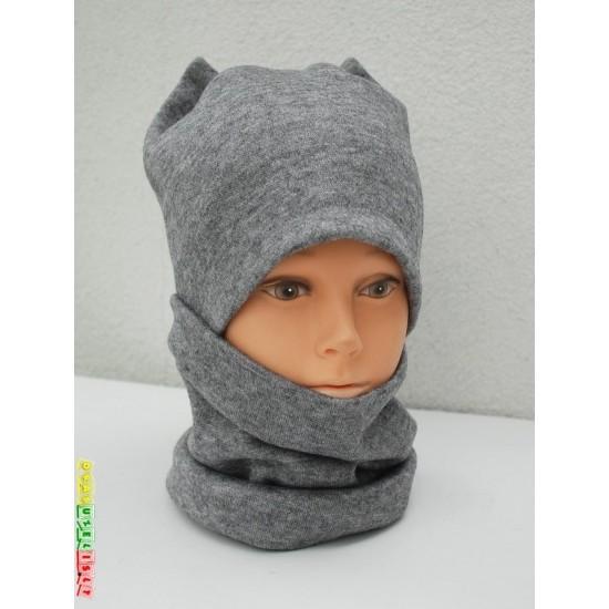 """Šilta Kepurė + kaklo mova  """"Šilta pilka"""", 816"""