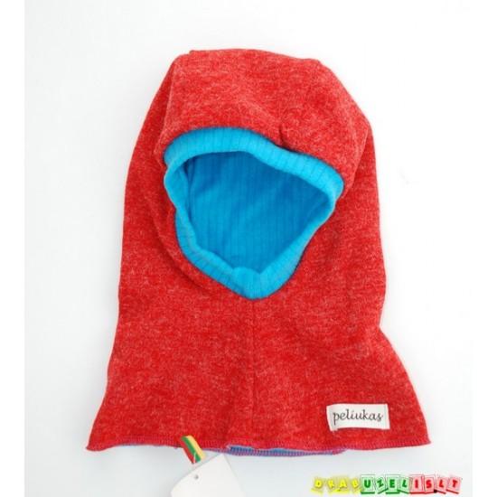 """Šilta Kepurė - šalmukas """"Raudona su mėlynu"""", 883"""
