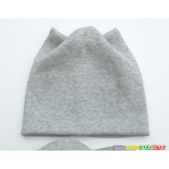 """Šilta kepurė su mova """"Šviesiai pilkos ausytės"""", 443"""