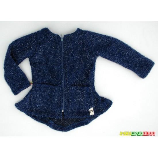"""Švarkelis/megztinis mergaitei """"Tamsiai mėlynas"""", 801"""