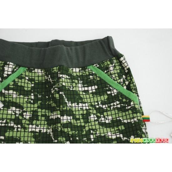 """Laisvalaikio/sportinės kelnės  """"Žalias kamufliažas"""", 897"""