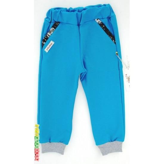 Sportinės mėlynos vaikiškos kelnės pavasariui-vasarai, 120