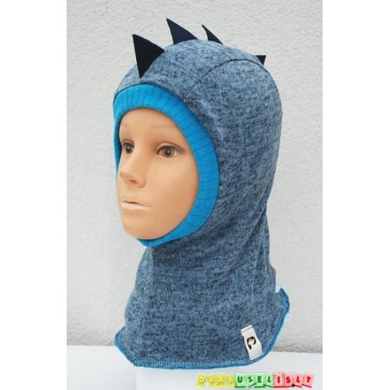"""Kepurė - šalmukas """"Šviesiai mėlynas drakoniukas"""", 931"""