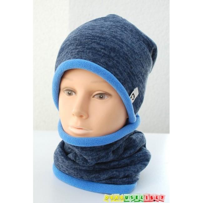 "Šilta kepurė su mova vaikui žiemai ""Melsva"", 410"