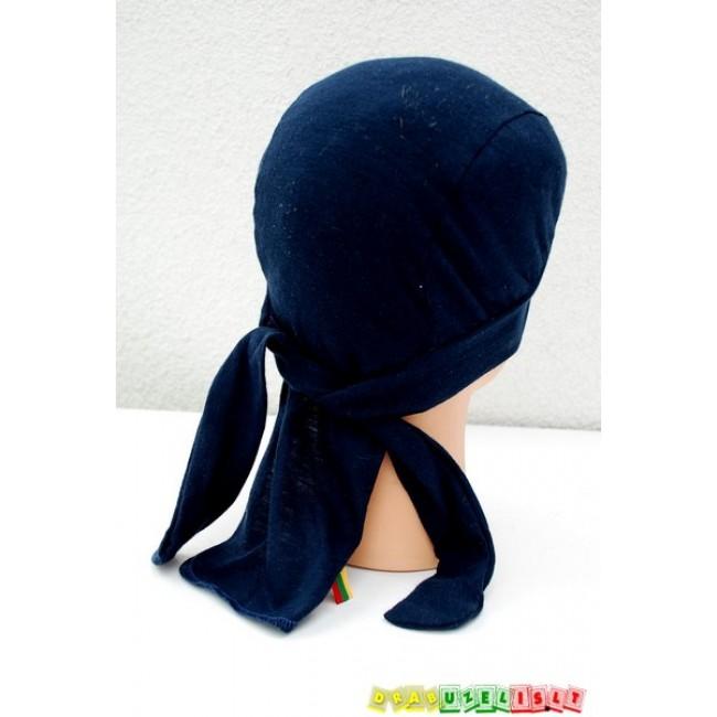 "Kepurė-bandana vasarai ""Tamsiai mėlyna"", 714"