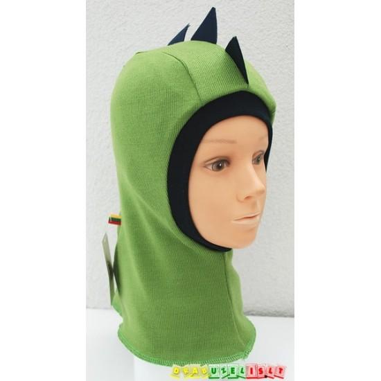"""Kepurė - šalmukas """"Žalias drakoniukas"""", 927"""