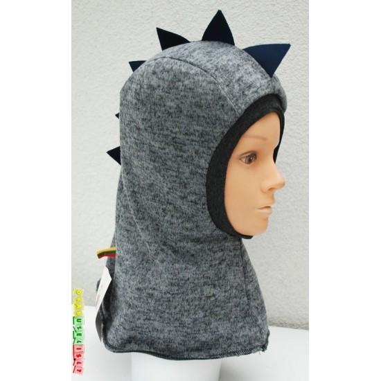 """Kepurė - šalmukas """"Šiltas pilkas  drakoniukas"""", 936"""