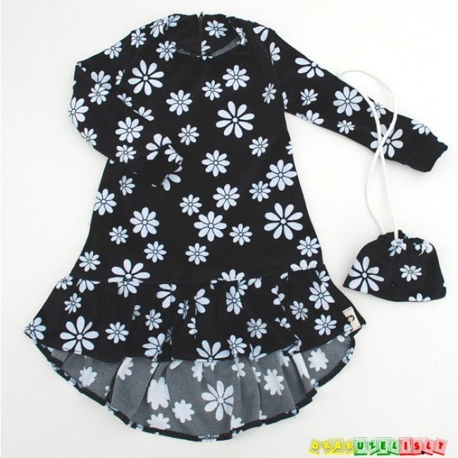 """Suknelė mergaitei  """"Baltos gėlės"""", 125"""
