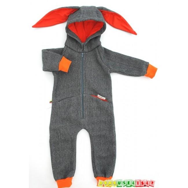 """Šiltas kombinezonas vaikui """"Pilkai oranžinis"""",  398"""